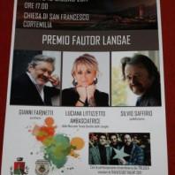 Fautor Langae 2017 e l'Ambasciatrice Luciana Littizzetto